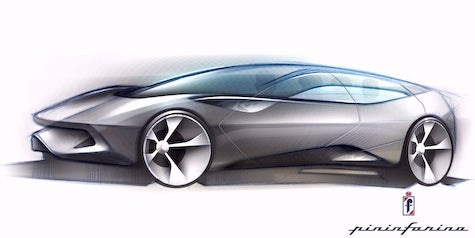 Pininfarina Sintesi Concept Sketch Revealed