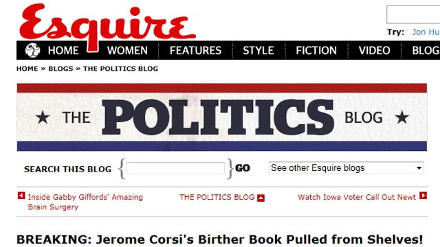 Esquire to Be Sued for Making Fun of Birthers