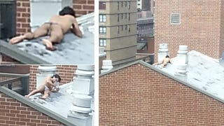 Rooftop Yoga Man Is the King of Manhattan