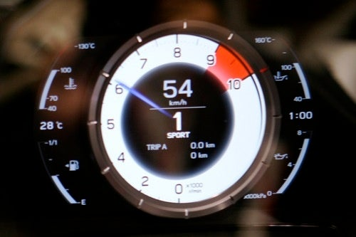 Lexus LFA All-Digital Tach, Speedo: First Look