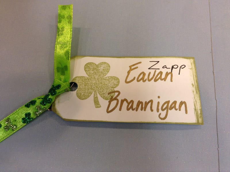 So I have to wear this name tag today, so I customized it.