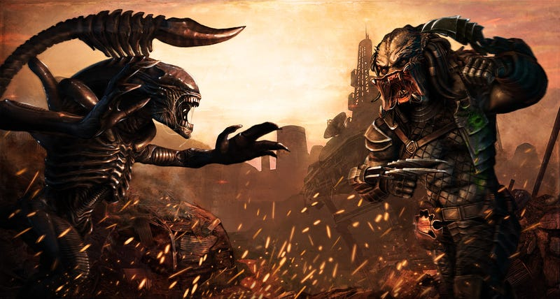 Exclusive Alien vs. Predator concept art shows what a Predator victory party looks like
