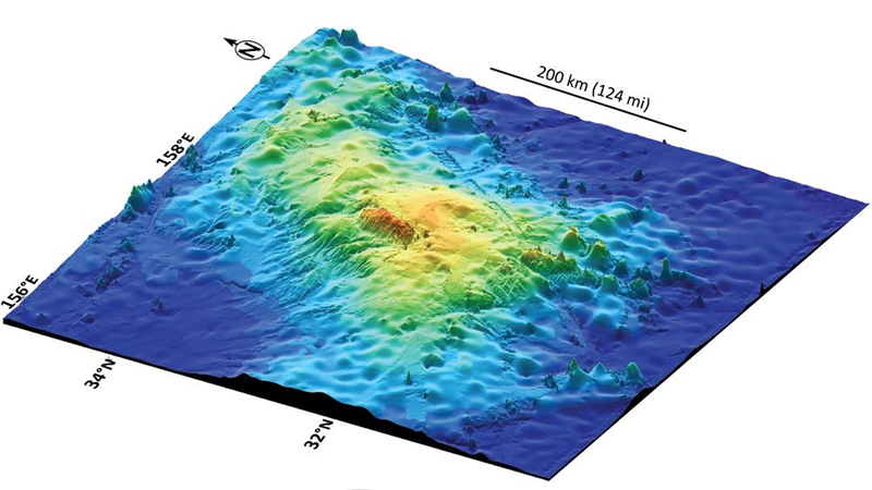 Scientists Found the World's Largest Volcano on Ocean Floor Near Japan