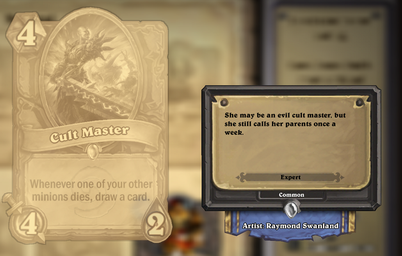 Hearthstone Cards Are Funnier Than You'd Expect