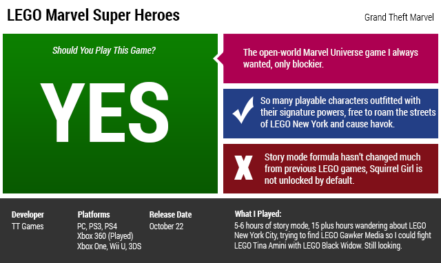 LEGO Marvel Super Heroes: The Kotaku Review
