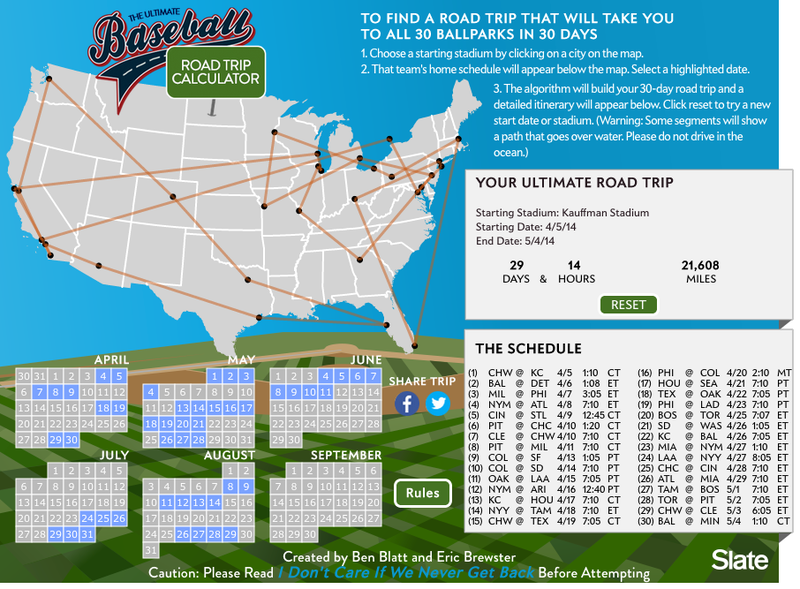 How To Plan A Road Trip To All 30 MLB Ballparks In 30 Days