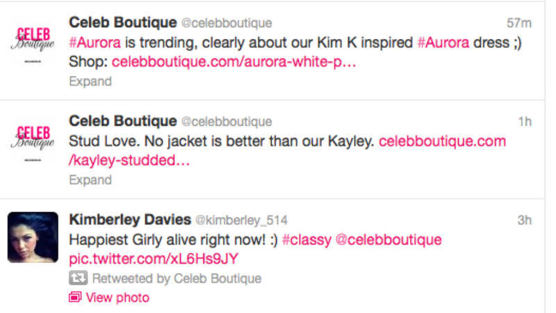 Idiotic Online 'Celeb Boutique' Briefly Thrilled That Aurora Was Trending