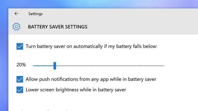 Cómo maximizar la vida de la batería en Windows 10