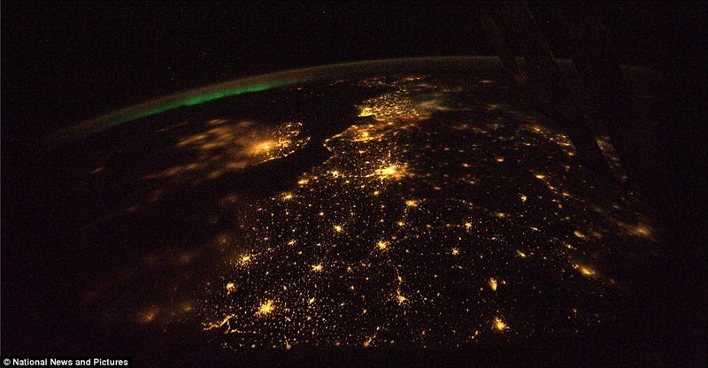 Earth Turns On its Christmas Lights For ISS Astronauts