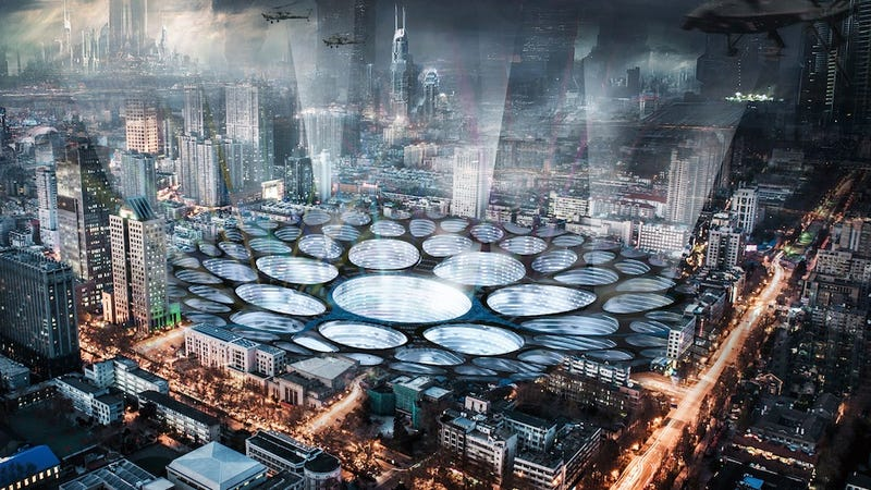 After the asteroid hits, we'll build a post-apocalyptic city inside the crater