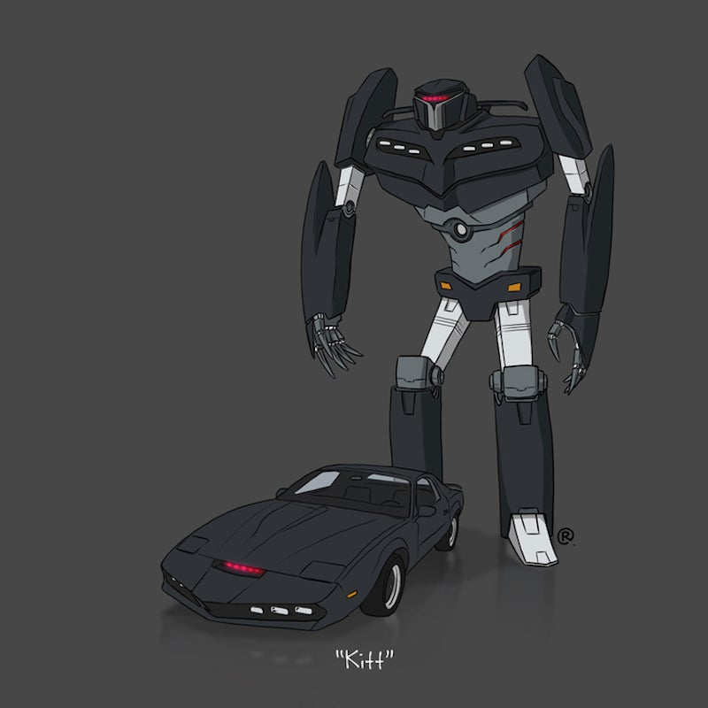 Here are your favorite TV and movie cars drawn as Transformers