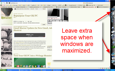 Reserve Space from Maximized Windows with DesktopCoral