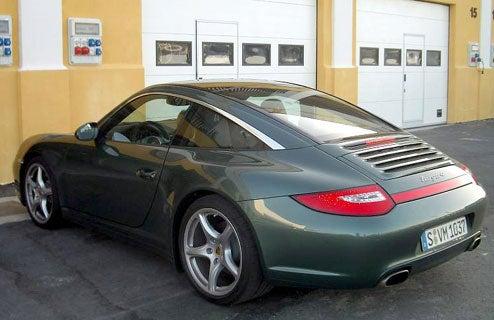 2009 Porsche 911 Targa Picked Out In A Sea of Porsches