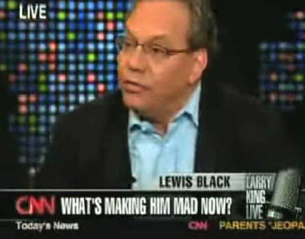 "Lewis Black hates the word 'blog'; it ""sounds like a condition"""