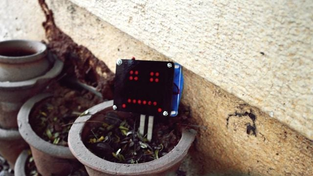 Build a Moisture Sensor that Shows Emoticons When a Plant Needs Water