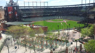 The Only Place To Watch The Orioles Game Is From Across The Street