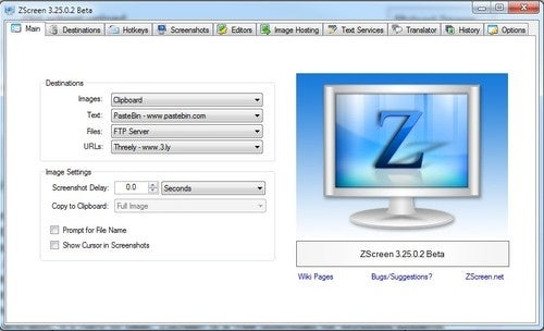 ZScreen Shares Screenshots, Text, and Files Across the Web