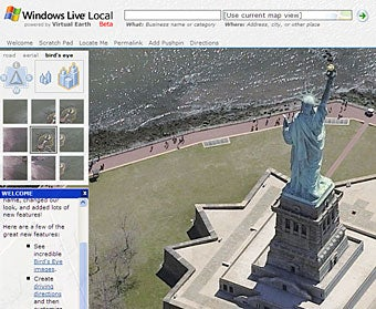 Windows Live Local maps bird's eye views