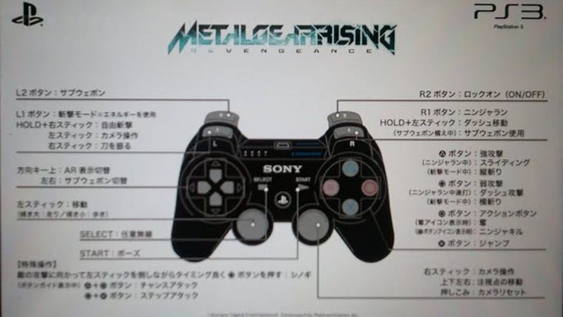 Metal Gear Rising's Controls Seem Painfully Counterintuitive