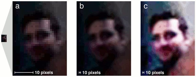 Hidden faces can be found by zooming into hi-res photos of eyes
