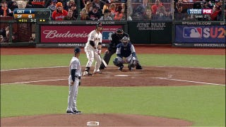 That Damn Marlins Fan Was Behind The Plate Again Last Night At The World Series