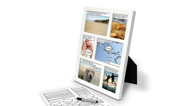Turn Your Least Favorite Family Member Into a Super Villain With This Comic Book Photo Frame
