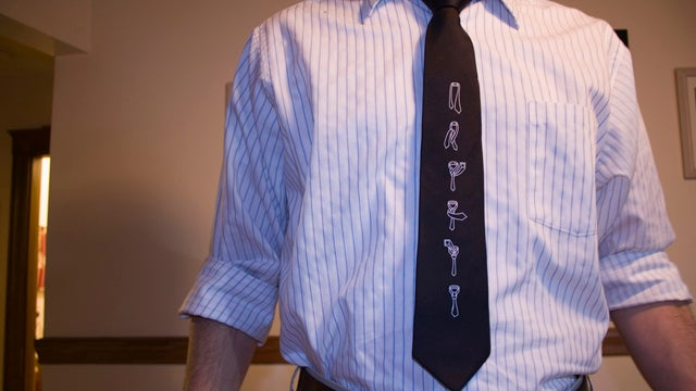 Keep Your Tie Perfectly Straight with a Paper Clip