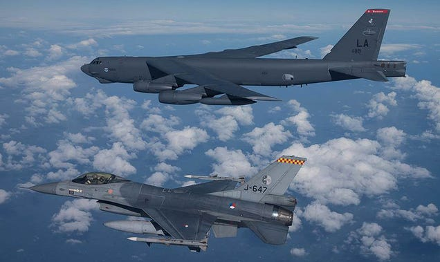 the us just held range bomber drills an area russia wants