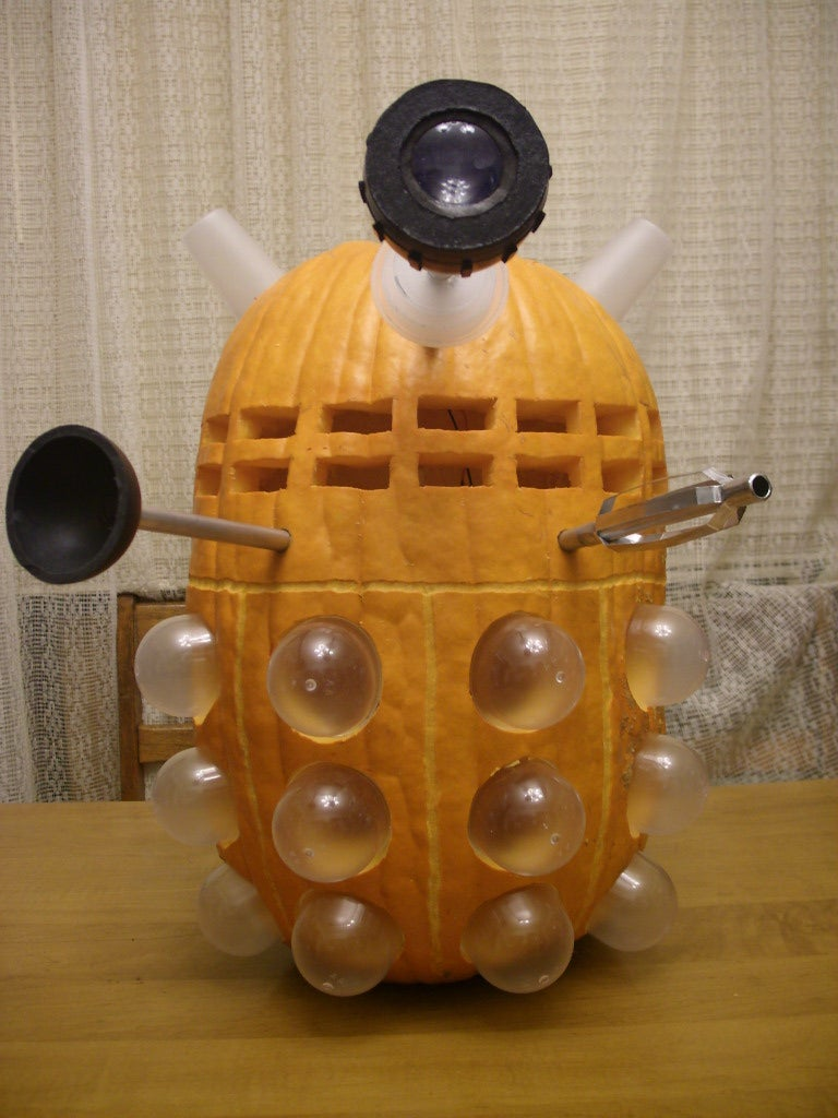 Dalek pumpkin wants to exterminate your candy