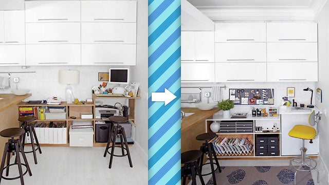The Simple Corner Workspace: Where Accents and Coordinated Objects Make All the Difference