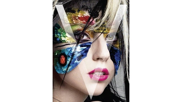 Lady Gaga Looks Like A Butterfly On The Cover Of V