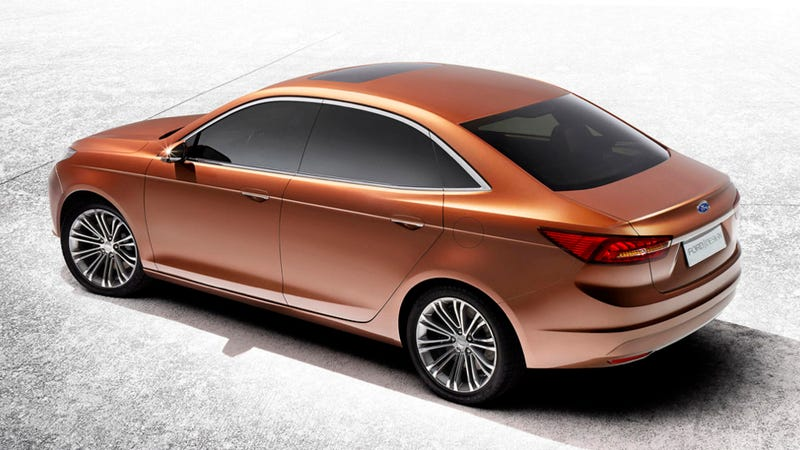 The Ford Escort Concept Is Ford's Classy Date To Shanghai