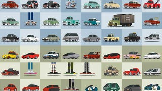All the cars of <i>Back to the Future </i>in one cool poster