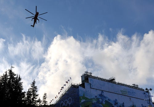 Is That Airlifted Snow On Your Olympic Ski Mountain, Or Is Your Enormous Helicopter Just Happy To See Me?