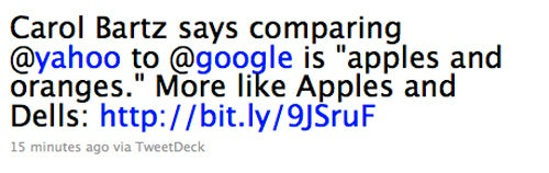 The Best Google-Yahoo Comparison To Date