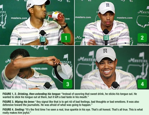 What Tiger Woods' Body Said At His Press Conference