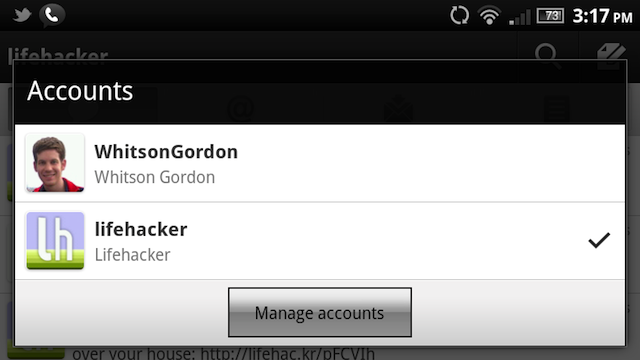 Twitter for Android Adds Push Notifications, Multiple Account Support