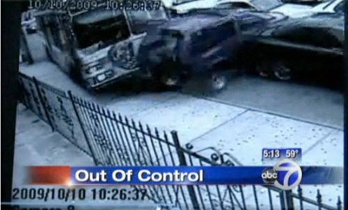 Bus Rams Through Parked Cars On Brooklyn Street