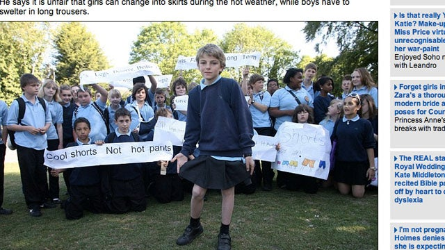 Crossdressing School Boy Leads Movement to Liberate Shorts