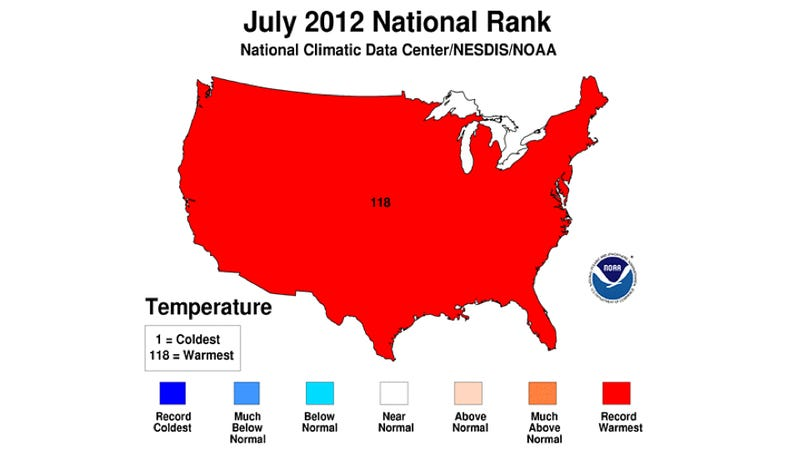 Last month was America's hottest on record. As in ever.