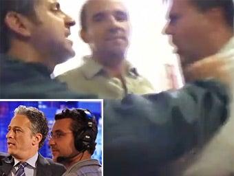 Jon Stewart's Producer Arrested for Punching Heckler
