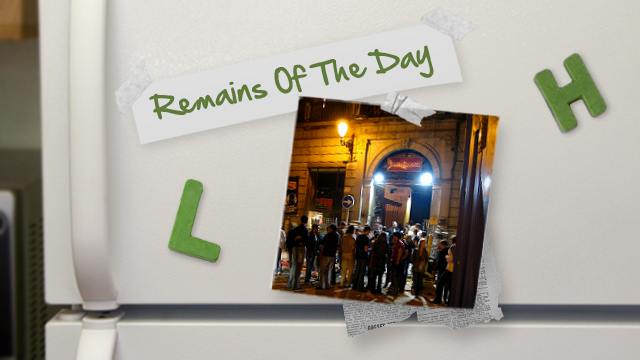 Remains of the Day: Going Out? Have Your Facebook Ready Along with ID