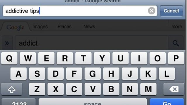 UniBar for iPhone Searches the Web from the Safari Address Bar