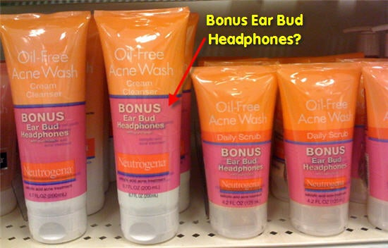 Weird Combo of the Day: Face Wash Comes with Free Earbuds