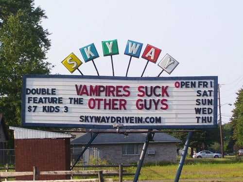 Erotic Drive-In Sign Proves Vampires Are Totally Gay