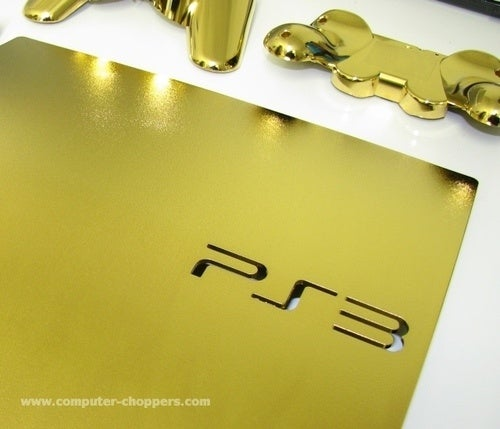 Gold-Dipped PS3 Does Not Include 250GB Hard Drive