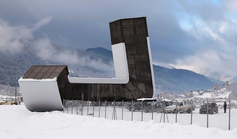 Flying to This Sci Fi Mountain Airport Almost Makes the Cold Worth It