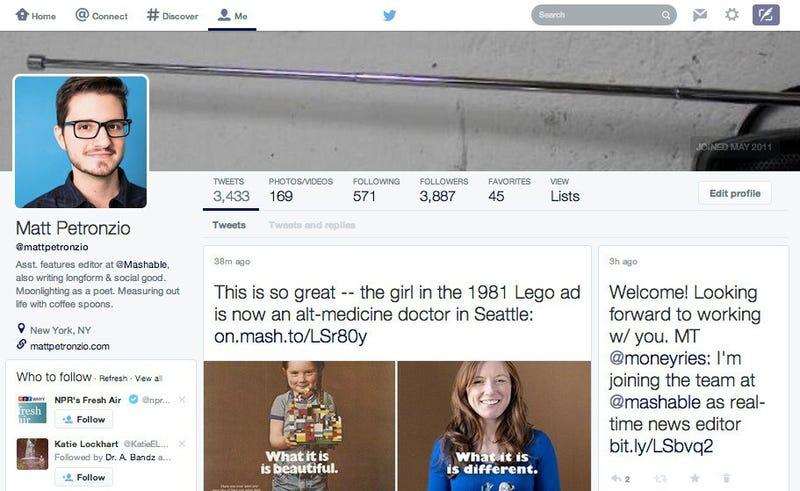 Twitter está probando un nuevo diseño más parecido a Facebook