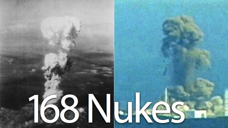 Fukushima Has Leaked 168 Hiroshima Blasts of Radiation