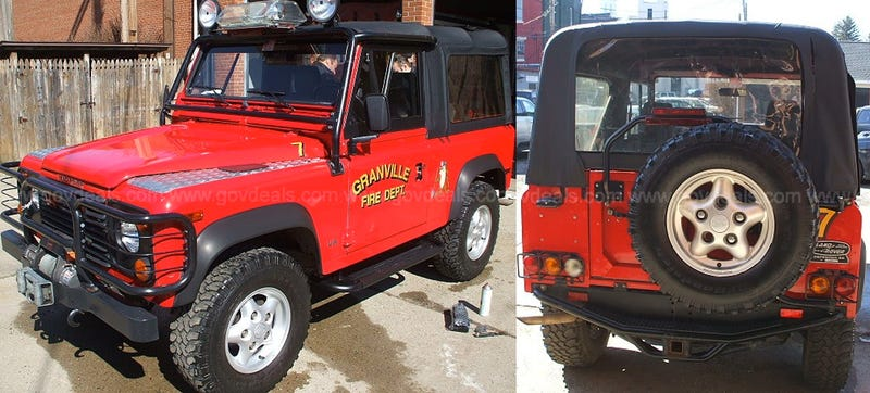America's Only Land Rover Fire Truck Is For Sale
